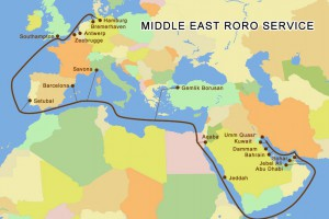 Middle East RoRo Service Map