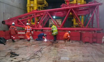 Securing Cargo & Welding to Deck