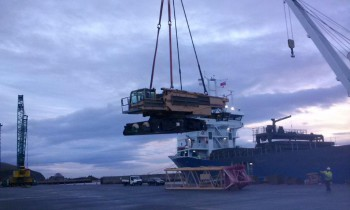 Lifting Superstructure on Board
